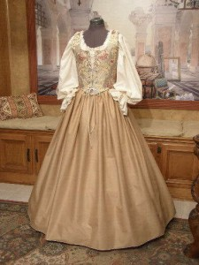Renaissance Faire Dress Medieval Costume Bodice Corset Skirt Wench Gown