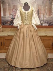 Renaissance Faire Dress Medieval Costume Bodice Corset Skirt Wench Gown
