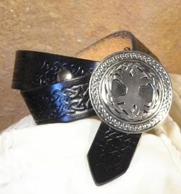 Celtic Leather Belt