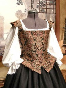 Renaissance Dress Elizabethan Middle or Merchant Class Gown Costume Clothing