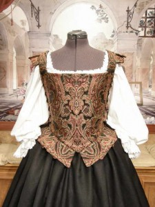 Renaissance Elizabethan Dress Middle Class or Merchant Gown Costume Clothing