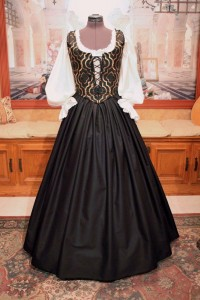 Black & Gold Bodice Ensemble 1