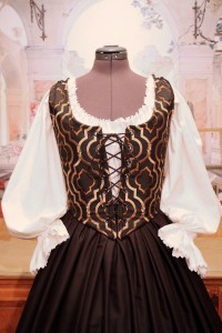 Black & Gold Bodice Ensemble 3