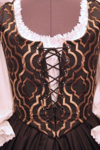 Black & Gold Bodice Ensemble 5