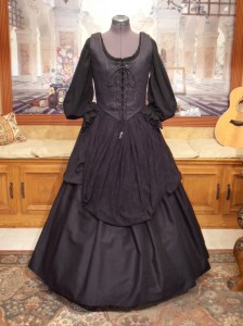 Medieval Renaissance Gothic Wench Witch Bodice Corset Skirt Gown Dress Black Purple Costume