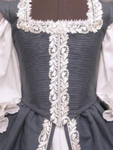 Renaissance Court Gown Bridal Wedding Dress Historical Costume