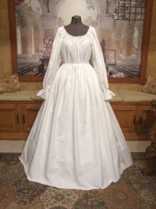 Renaissance Court Gown Bridal Wedding Dress Historical Costume