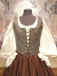 Renaissance Maiden Wench Bodice Skirt Costume