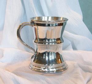 Pewter Captain's Tankard Mug Cup