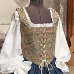 Renaissance Wench Blue Bodice Skirt Dress Gown