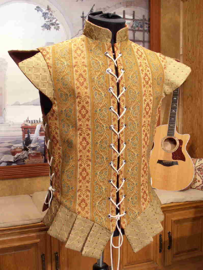 Gold And Brick Doublet Faire Finery