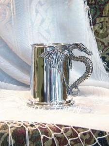Pewter Dragon Tankard Mug