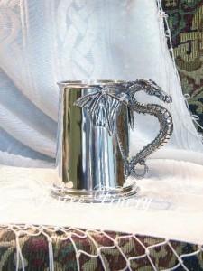 Pewter Dragon Tankard Mug