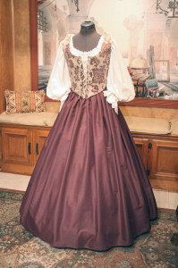 Plum Wench Bodice skirt dress gown corset costume