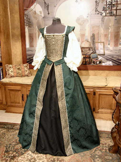 Damask Court Gown Faire Finery