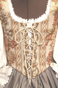 Floral Lilace Wench Renaissance Bodice Skirt Corset Medieval Maiden Costume