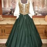 Renaissance Wench Bodice Skirt Medieval Maiden Dress Gown