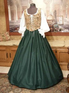 Renaissance Wench Bodice Skirt Medieval Maiden Dress Gown