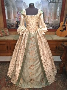 Ivory and Sage Gown 1