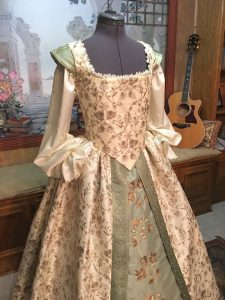 Ivory and Sage Gown 3