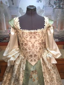 Ivory and Sage Gown 4