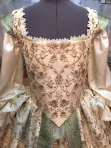 Ivory and Sage Gown 6