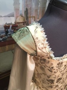 Ivory and Sage Gown 7