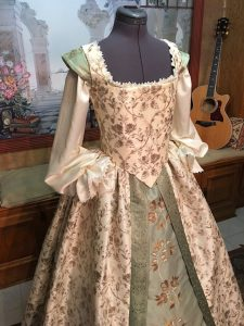 Ivory and Sage Gown 9