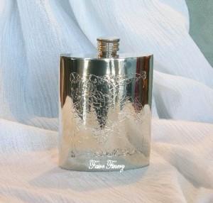 Celtic Kidney Pewter Flask