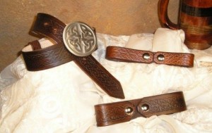 Celtic Leather Mug Strap or Frog
