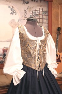 Renaissance Bodice Skirt Dress Gown Corset Costume Maiden Wench Medieval Garb