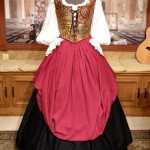 Pirate Wench Dress Gown Bodice Corset Skirt Costume Renaissance Medieval
