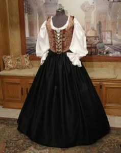 Lady Pirate Dress Bodice Skirt Costume