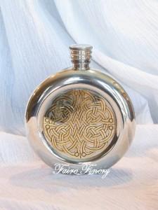 Celtic Pewter Flask
