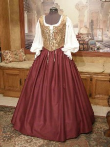 Renaissance Wench Bodice Skirt Gown Dress for Fair