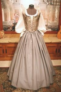 Silver Lilac Renaissance Wench Bodice Skirt Corset Costume