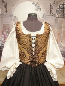 Renaissance Wench Bodice Corset Skirt Dress Gown Clothing Costume