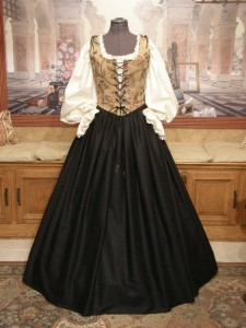 Renaissance Wench Costume Bodice Skirt Gown Dress Faire Clothing Garb
