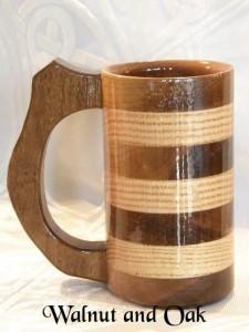 Wooden Tankard Cup Mug